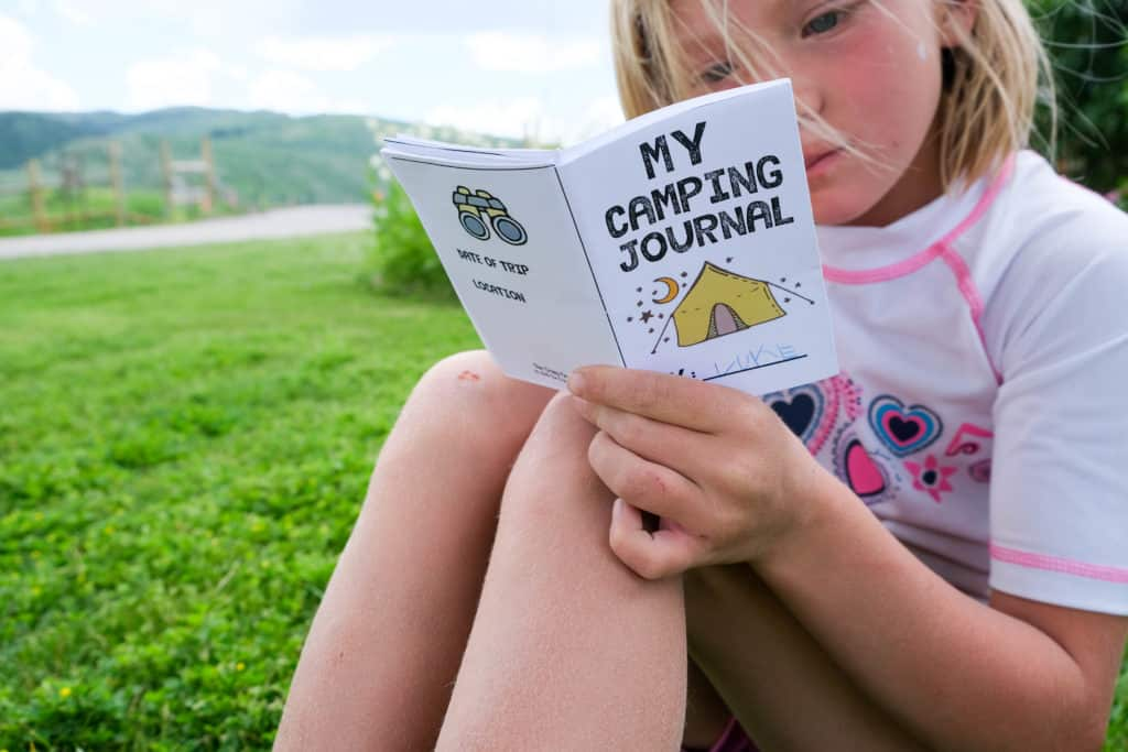DIY printable kids camp journal