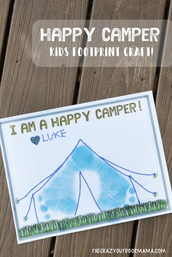 happy camper foorpint craft