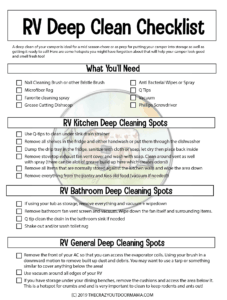rv deep clean checklist