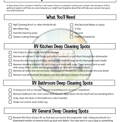 rv deep clean checklist