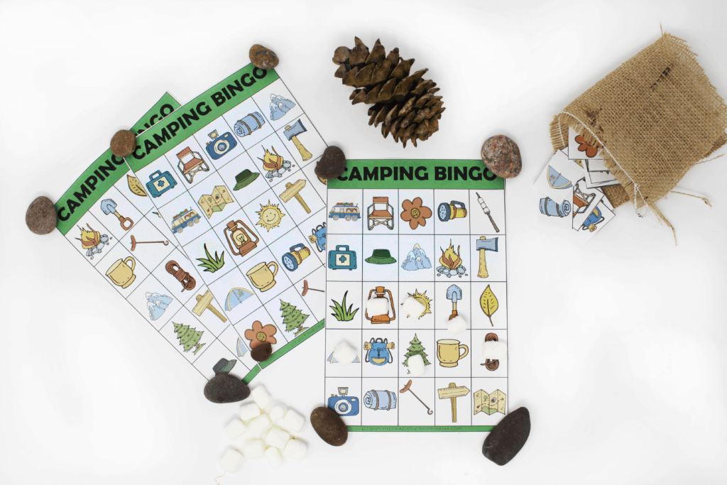 camping bingo game for kids