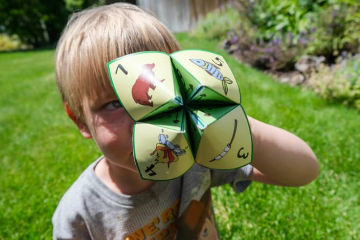 photograph about Printable Fill in the Blank Camp Letters titled Printable Camp Themed Cootie Catcher (Fortune Teller) For