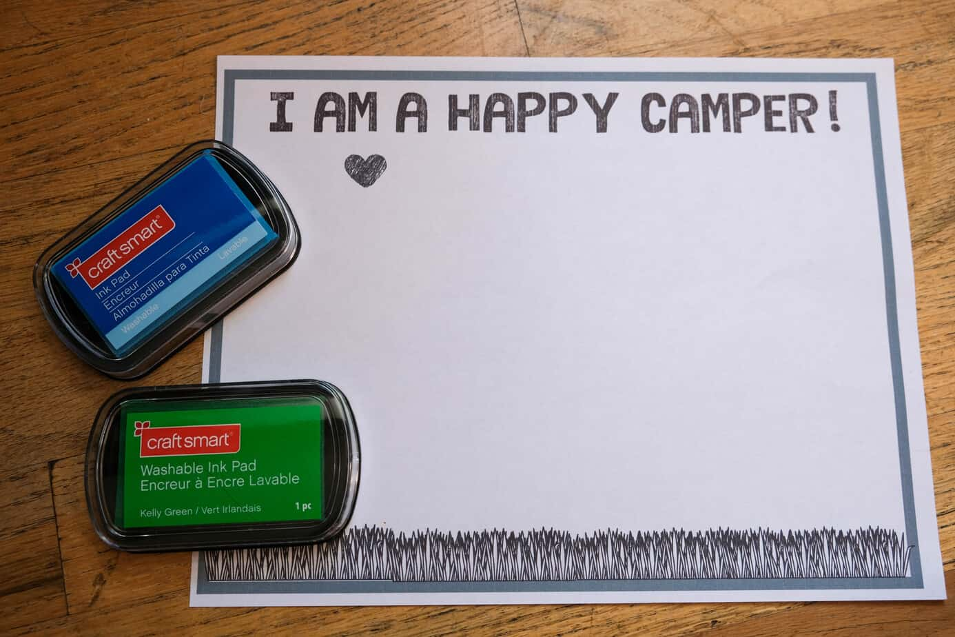 happy camper kids craft directions template