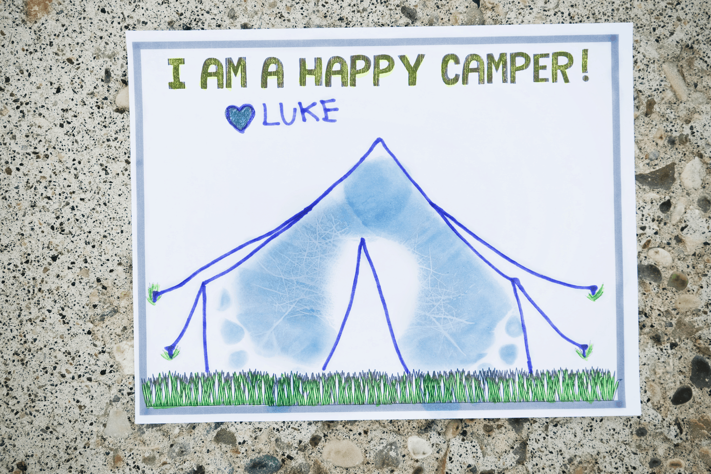 happy camper footprint craft