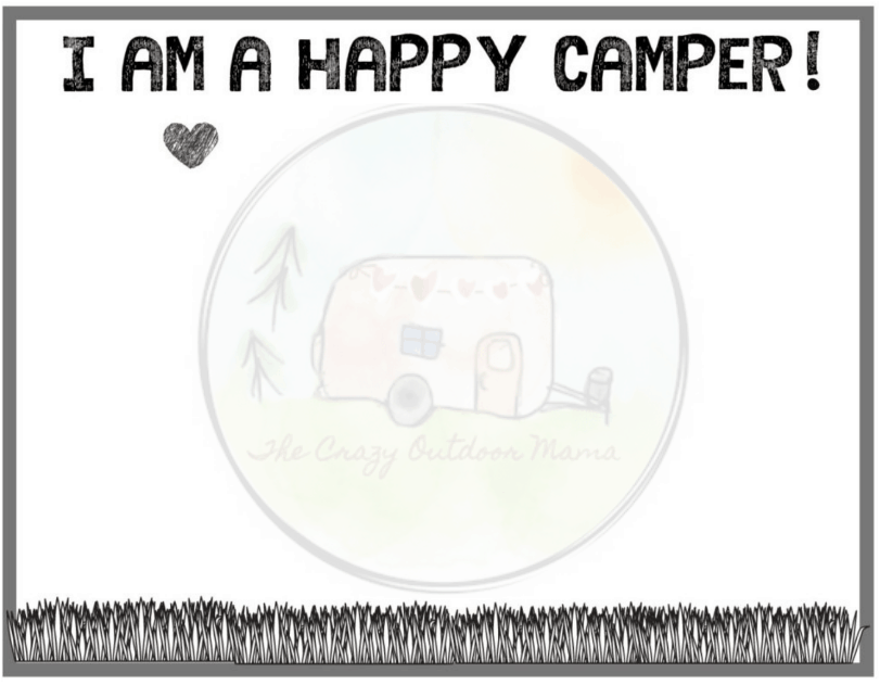 happy camper footprint craft for kids preview