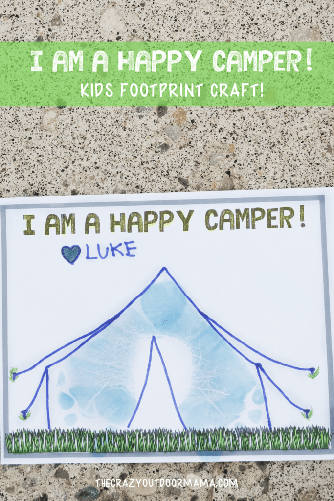 happy camper foorprint craft