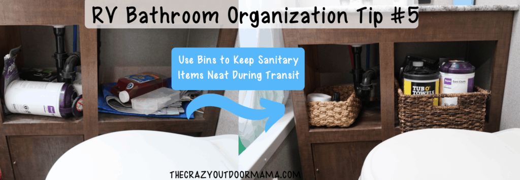 bins for organizing rv bathroom