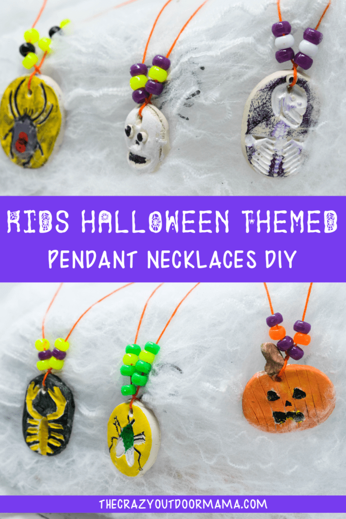 HALLOWEN CRAFTS FOR KIDS NECKLACE DIY FOR HALLOWEEN KIDS PARTY