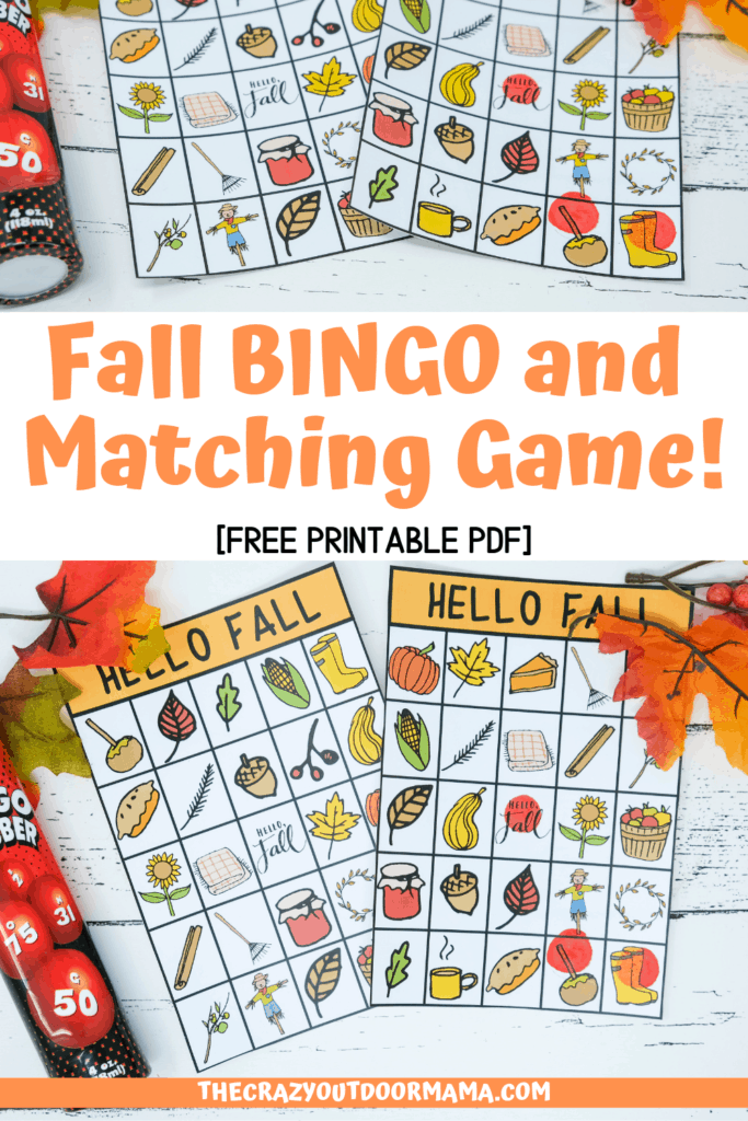 photo regarding Fall Bingo Printable named Enjoyable Drop Scavenger Hunt and Matching Recreation [PDF Printable