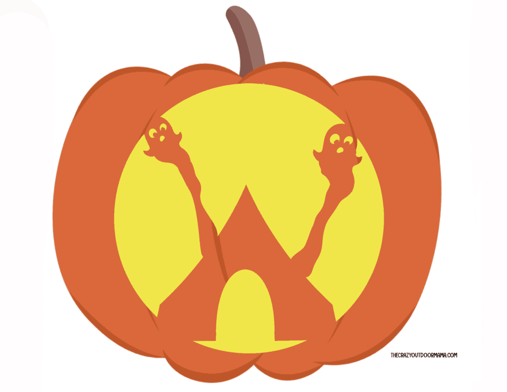 ghostly tent pumpkin template