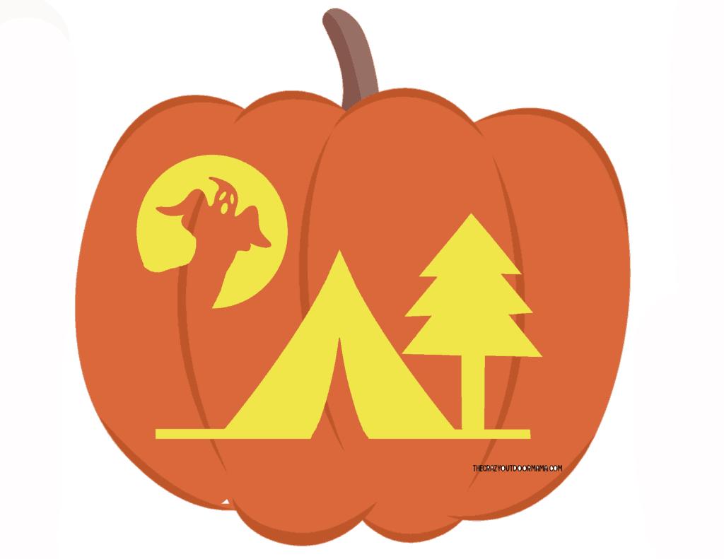 camping pumpkin carving ideas