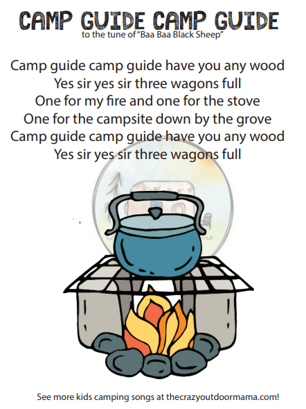 camp guide camp guide tune of baa baa black sheep camp song for kids