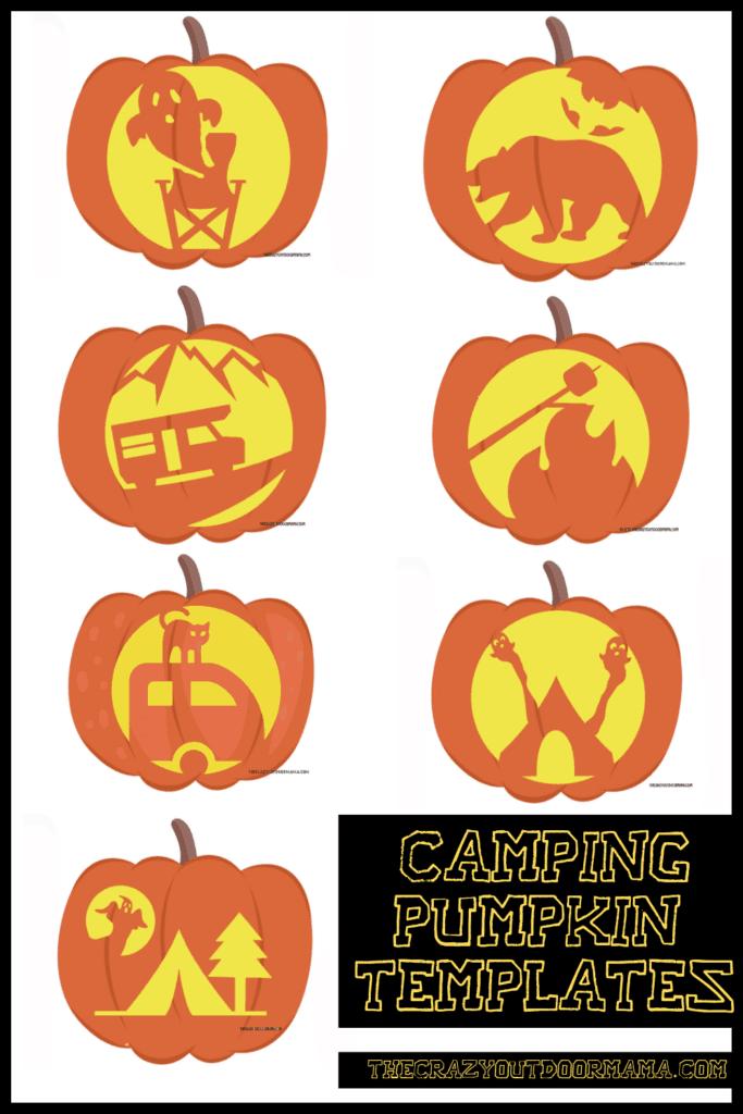 camping halloween pumpkin ideas