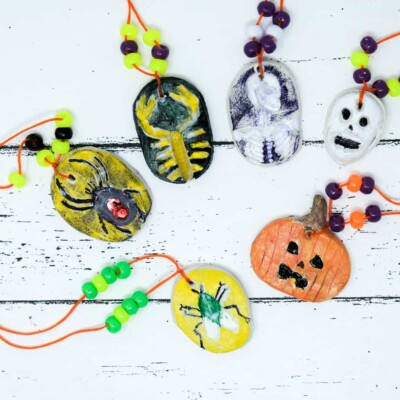 hallowen kids craft necklace diy