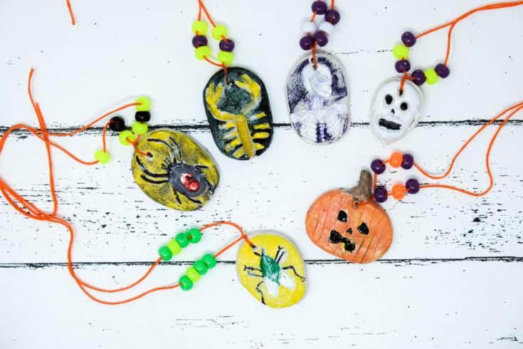 DIY Halloween Kids Necklace Craft (Cheap and FUN!)