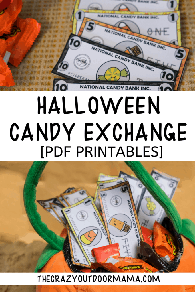 halloween idea for kids candy exchange printable