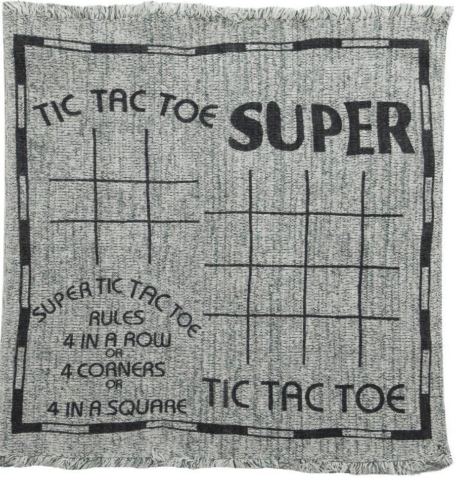 tic tac toe blanket
