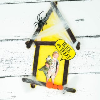 halloween popsicle stick craft for kids