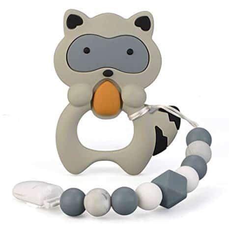 Silicone Raccoon Teether