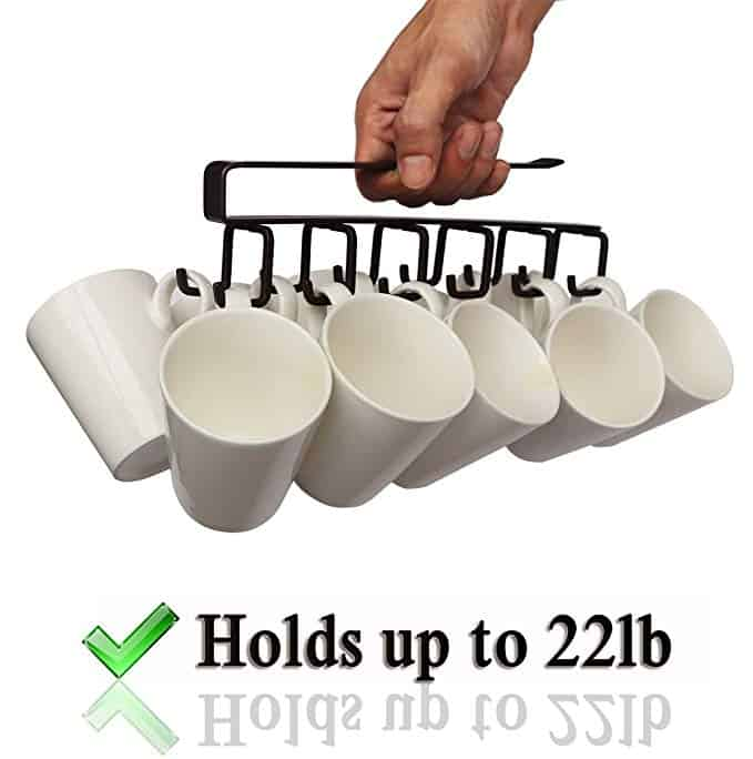 Iron Under Cabinet Mug Hanger