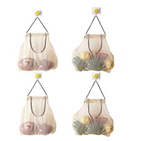 Reusable Hanging Storage Mesh Bags