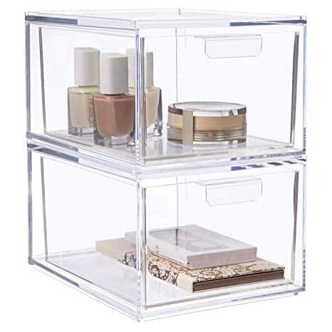 Stackable Cosmetic Organizer Drawers