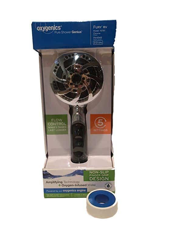 A NICE RV Shower Head (Oxygenics!)