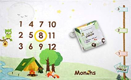 Camping Adventure Baby Monthly Milestone Blanket