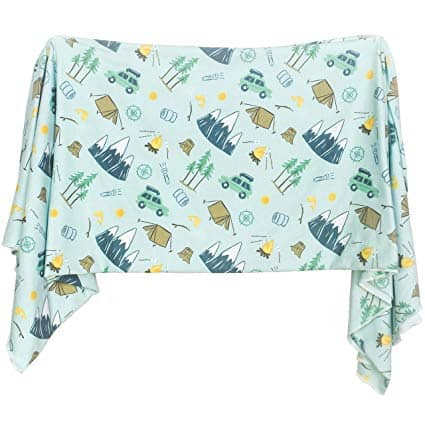 Extra Soft Knit Swaddling Receiving Blanket Outdoor Adventure