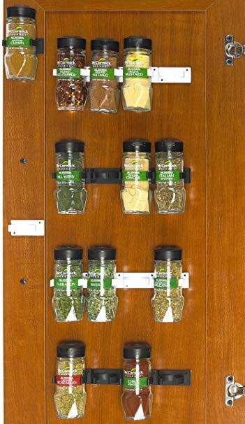 SimpleHouseware 30 Spice Gripper Clips Strips Cabinet Holder