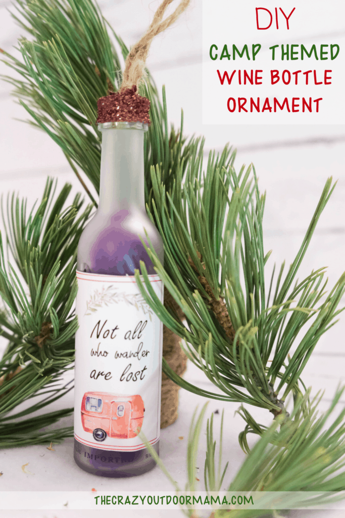 HOW TO MAKE A WINE BOTTLE ORNAMENT