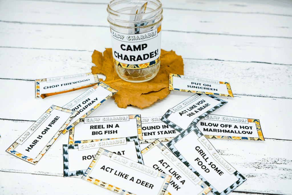 how to play camp charades at camp
