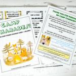 camp charades printable
