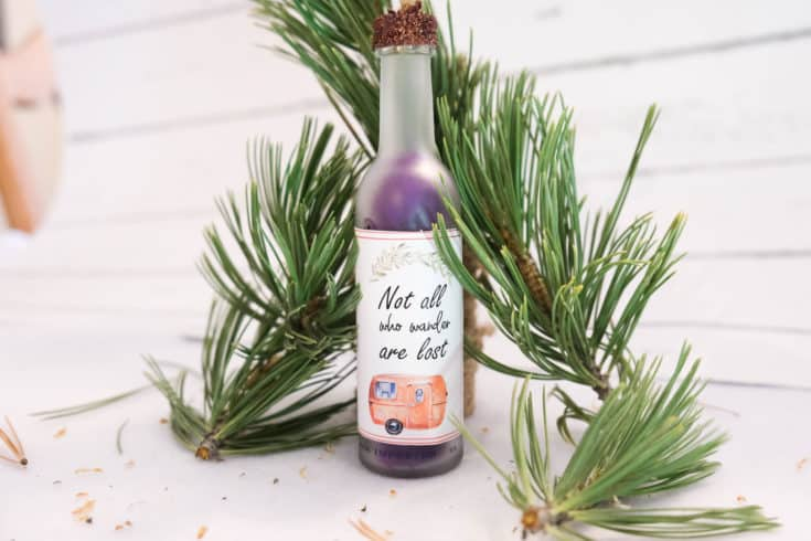 DIY Camping Christmas Wine Ornament!