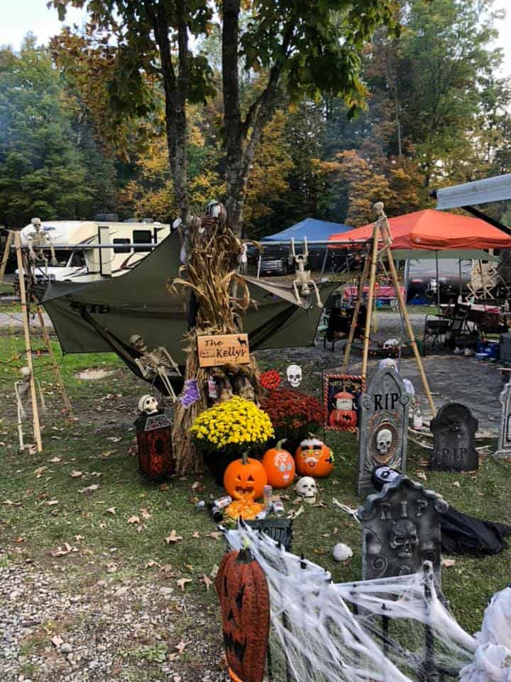 fall rv and halloween