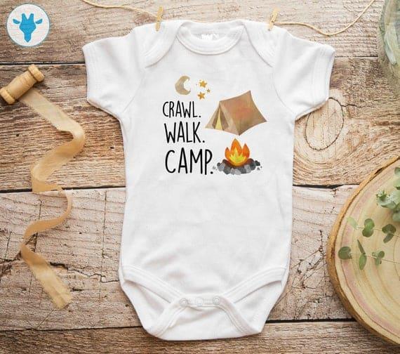 Crawl Walk Camp Adventure Bodysuit,