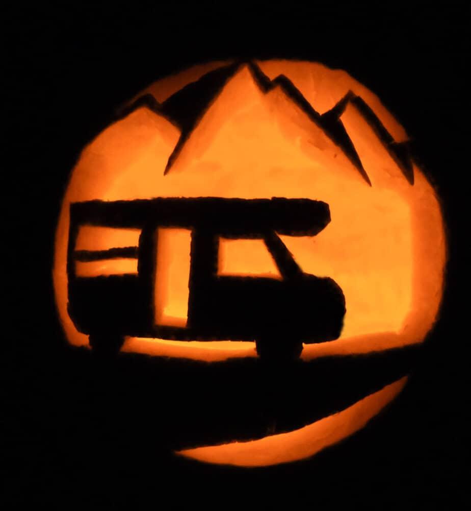 rv themed pumpkin carving halloween