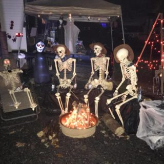 skeletons by the campfire