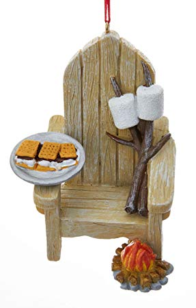 Adirondack Chair and S'mores Ornament