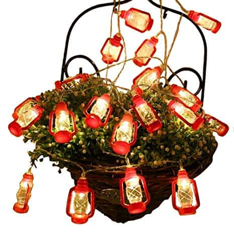 Red Lantern Mini Kerosene String Lights