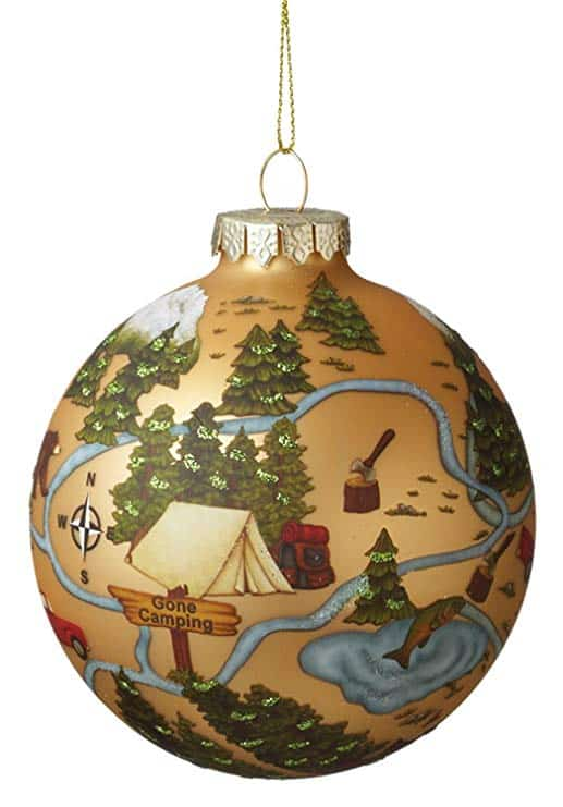 Camping Scene Ball Ornament