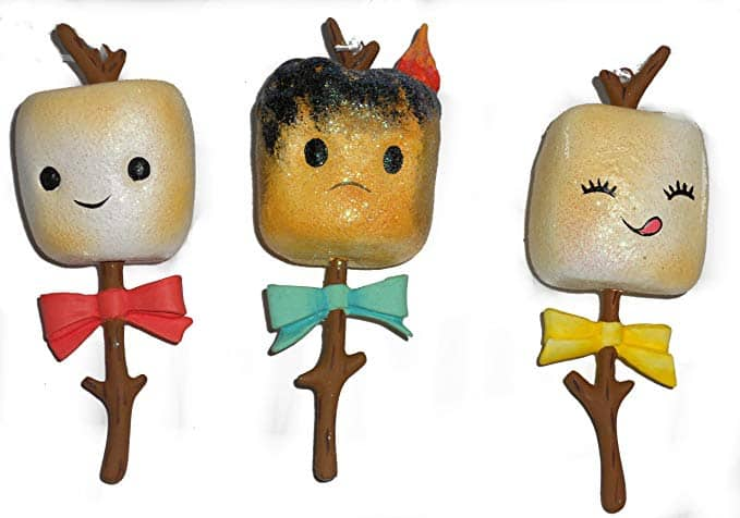 Toasted Campfire Marshmallow Trio of Ornaments!
