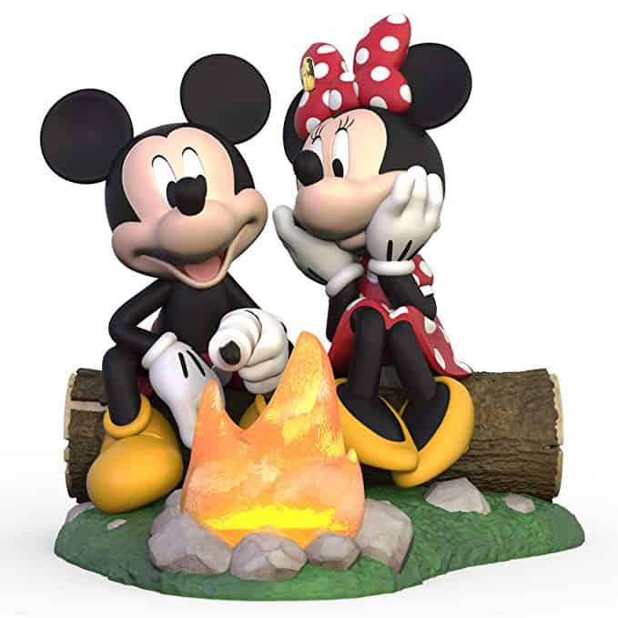 Hallmark Keepsake Christmas Disney and Minni at the campfire!