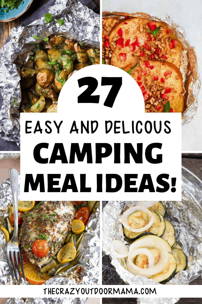 CAMPING MEAL IDEAS FOIL PACKET