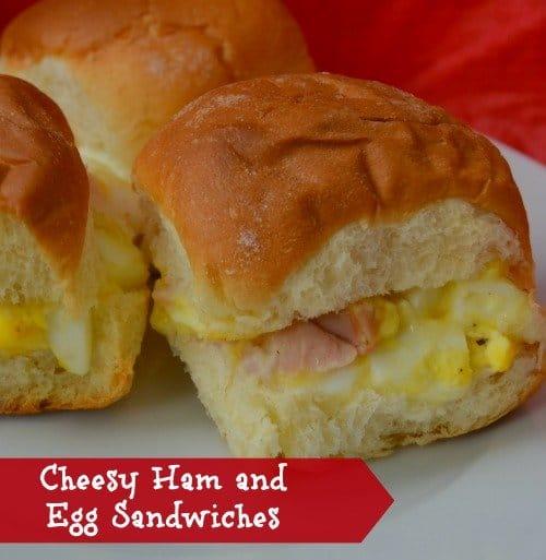 Cheesy Ham and Egg Sandwiches Recipe