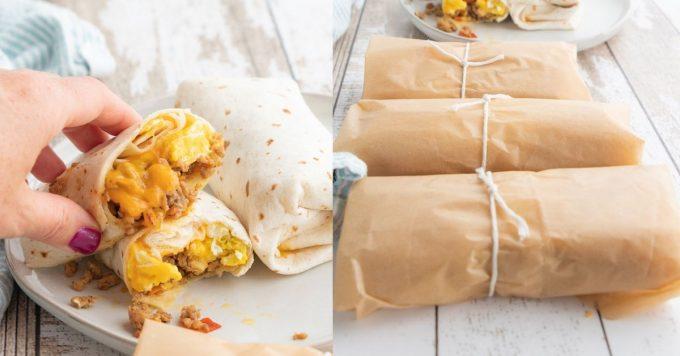 Make Ahead Breakfast Burrito