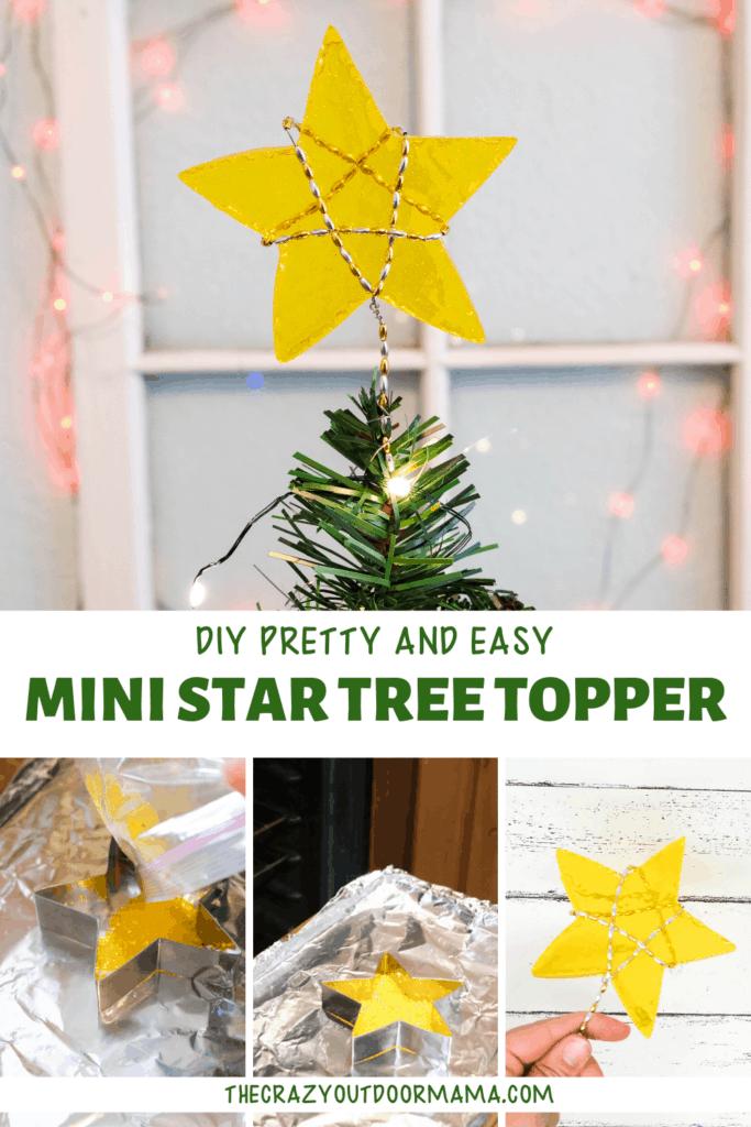 DIY METLED TREE TOPPER