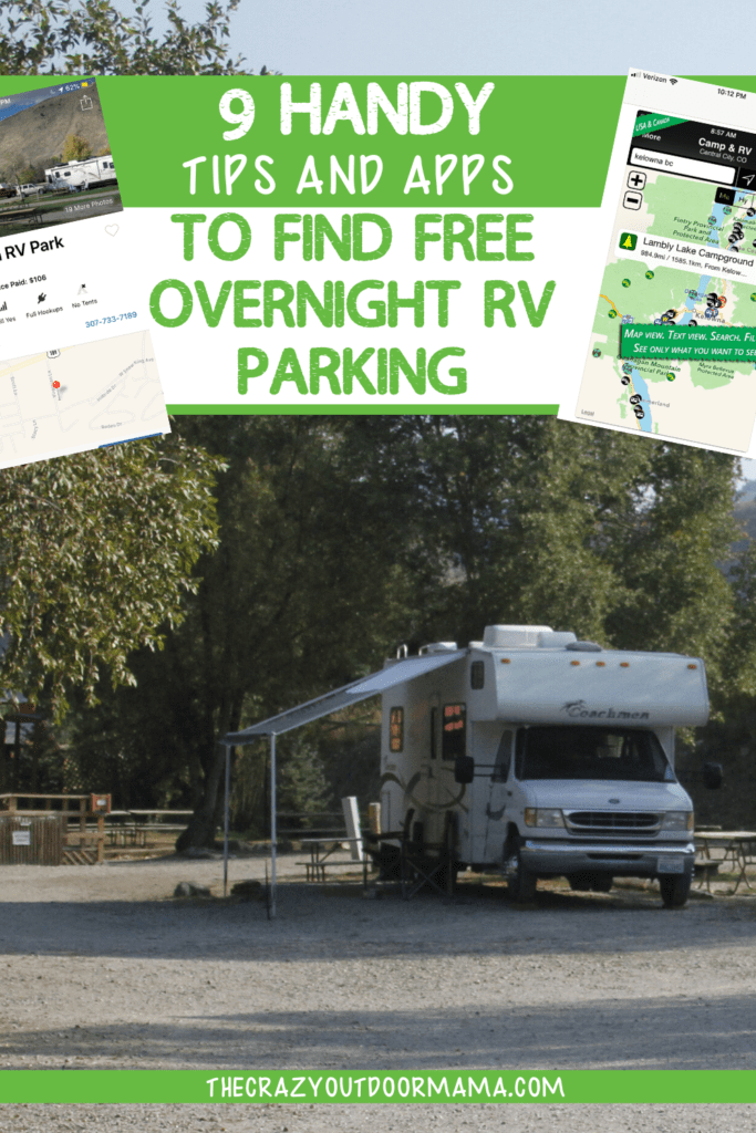 rv parking camping ideas apps
