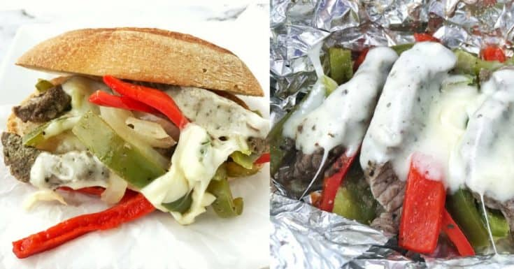 An easy Philly Cheese Steak (that is a bit leaner!)