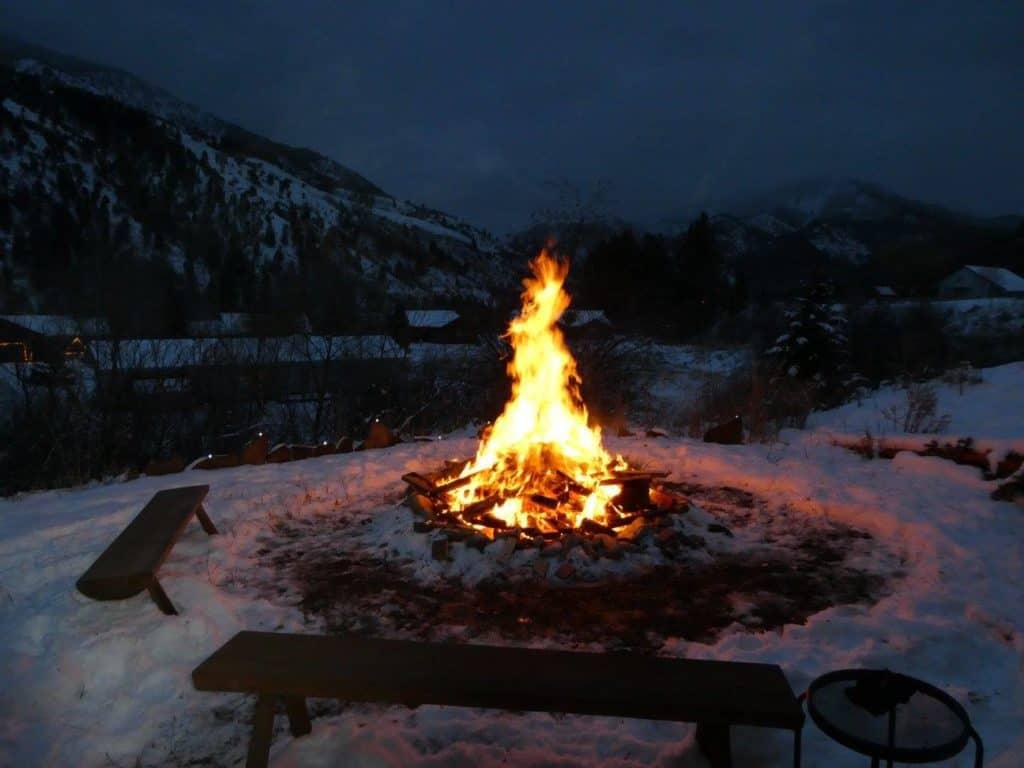 bonfire for winter solstice